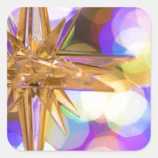 Sticker Carré Parties scintillantes d'étoile