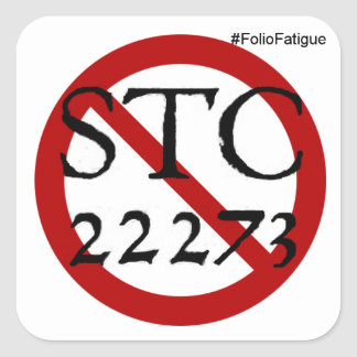 Sticker Carré pas plus d'autocollant du STC. 22273