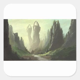 Sticker Carré Passage de montagne