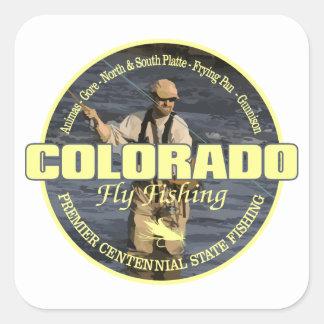 Sticker Carré Pêche de mouche du Colorado
