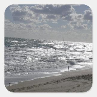Sticker Carré Pêche et rêves de plages