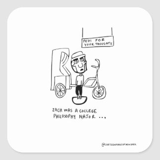 Sticker Carré Pedi pour vos pensées
