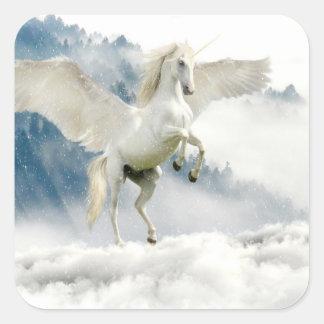 Sticker Carré Pegasus à cornes
