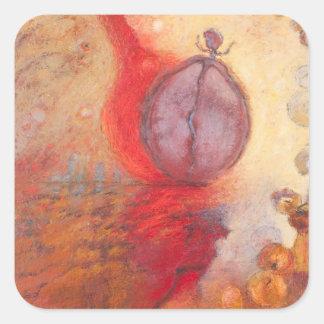 Sticker Carré Peinture à l'huile d'abrégé sur danse du feu