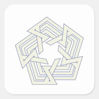 Sticker Carré Penta
