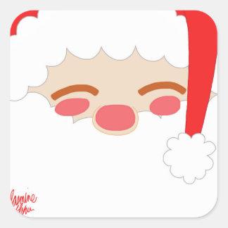 Sticker Carré Père Noël 1