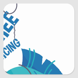 Sticker Carré Perforation libre