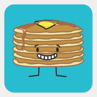 Sticker Carré Petit déjeuner pelucheux de sirop de beurre de