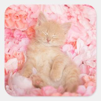 Sticker Carré Petit floral rose de Linus