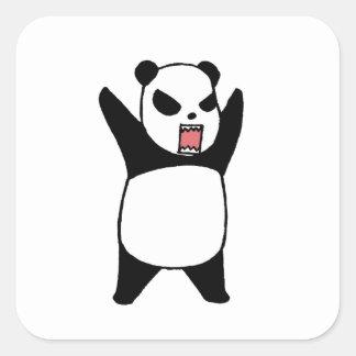 Sticker Carré Petit panda fâché