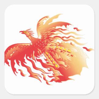 Sticker Carré Phoenix