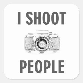 Sticker Carré photographe drôle d'appareil-photo de photo des
