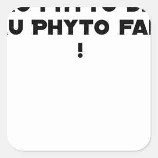 Sticker Carré PHYTOTHERAPY : AU PHYTO DIT, AU PHYTO FAIT ! - Jeu