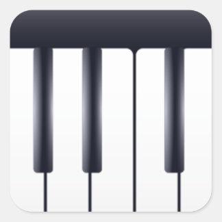 Sticker Carré Piano électrique