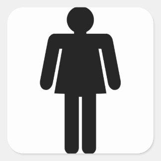 Sticker Carré Pictogramme de femme