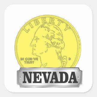 Sticker Carré Pièce d'or du Nevada