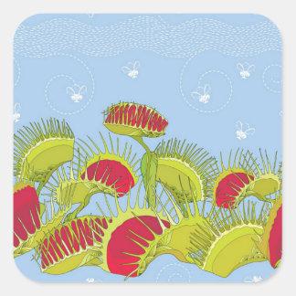 Sticker Carré piège bleu de mouche