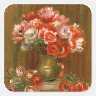 Sticker Carré Pierre anémones de Renoir un |