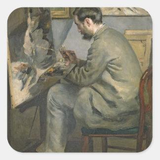 Sticker Carré Pierre un Renoir | Frederic Bazille à son chevalet