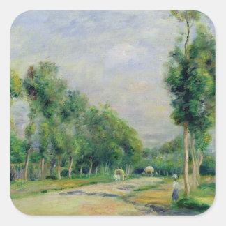 Sticker Carré Pierre un Renoir | la route vers Versailles