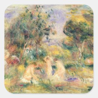 Sticker Carré Pierre un Renoir | les baigneurs