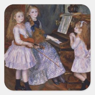 Sticker Carré Pierre un Renoir   les filles de Catulle Mendes