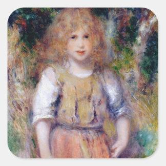Sticker Carré Pierre une fille gitane de Renoir |