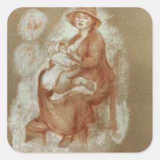 Sticker Carré Pierre une maternité de Renoir |