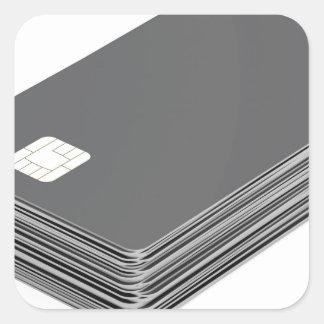 Sticker Carré Pile avec les cartes en plastique vierges avec la