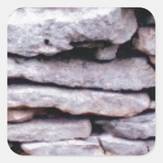 Sticker Carré pile de roche formée