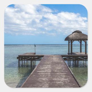 Sticker Carré Pilier dans le flac flic îles Maurice d'en d'océan
