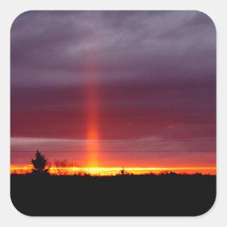 Sticker Carré Pilier du feu au coucher du soleil, île de St
