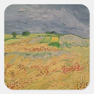 Sticker Carré Plaine de Vincent van Gogh | chez Auvers, 1890