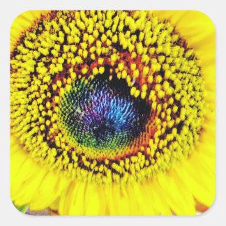 Sticker Carré Plan rapproché jaune