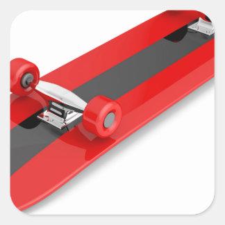 Sticker Carré Planche à roulettes