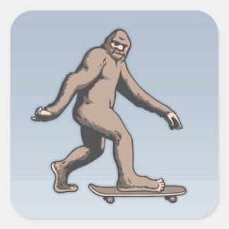 Sticker Carré Planche à roulettes de Bigfoot