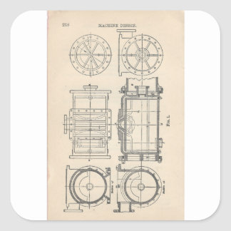 Sticker Carré Pocletbook du mécanicien