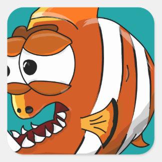 Sticker Carré poissons