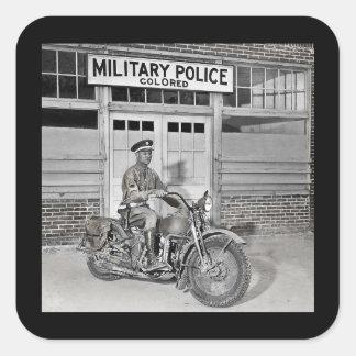 Sticker Carré Police militaire d'Afro-américain