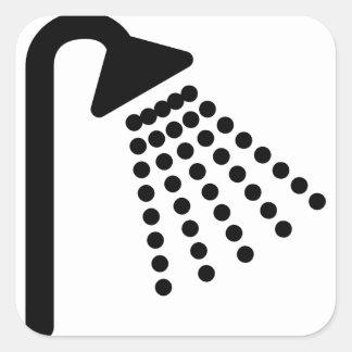 Sticker Carré Pommeau de douche