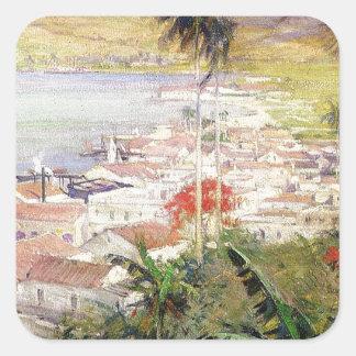 Sticker Carré Port de La Havane