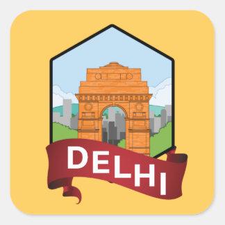 Sticker Carré Porte de Delhi Inde