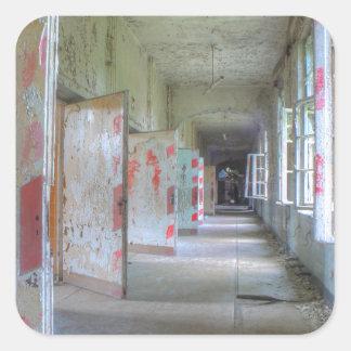 Sticker Carré Portes et couloirs 02,1, endroits perdus, Beelitz