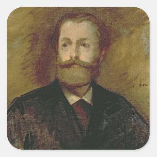 Sticker Carré Portrait de Manet | d'Antonin Proust c.1877-80
