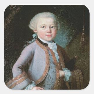 Sticker Carré Portrait de Wolfgang Amadeus Mozart