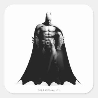 Sticker Carré Pose large noire et blanche de la ville | Batman