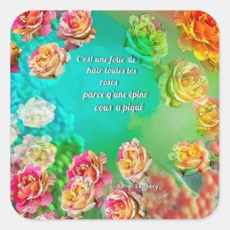 Sticker Carré Pour aimer est de pardonner