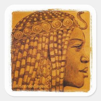 Sticker Carré Pourcentage africain