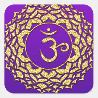 Sticker Carré Pourpre de Chakra de couronne
