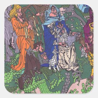 Sticker Carré Premier Noël